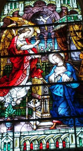 Annunciation window, Our Lady Star of the Sea Church, Cape May, NJ