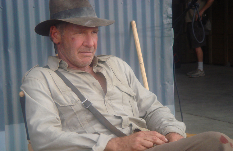 Harrison Ford as the mature Jones in Indiana Jones and the Kingdom of the Crystal Skull (Photo via Wikipedia)