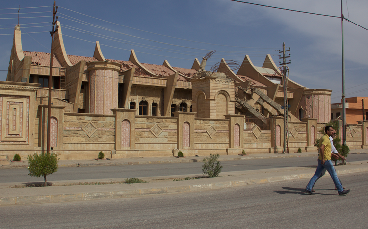 The church of Mar Behnam and Mart Sarah awaits repairs in Qaraqosh, Iraq. Photo by Kevin Clarke.