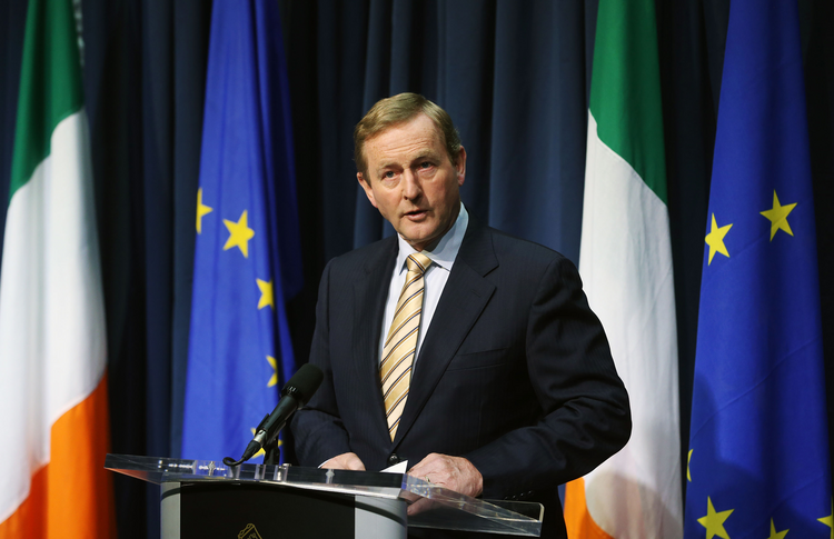 Irish Prime Minister Enda Kenny speaks during a press conference in Dublin Friday June 24, 2016 after Britain voted to leave the European Union in an historic referendum. (Niall Carson/PA via AP)