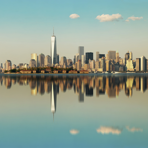 "New York and a handful of ""elite cities"" seem to have ascended into their own heavenly economy. (iStock photo)"