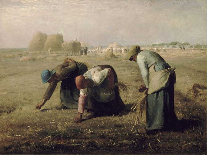 """The Gleaners"" by Jean-François Millet, c. 1857."