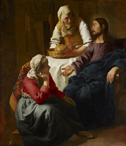 Vermeer, Christ in the House of Martha and Mary (WikiCommons)