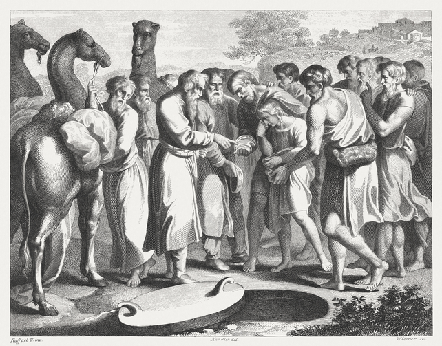 Joseph sold by his brothers (Genesis 37), published 1841