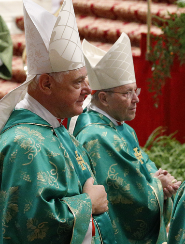 Cardinals Gerhard Muller, prefect of the Congregation for the Doctrine of the Faith, and Walter Kasper, retired president of the Pontifical Council for Promoting Christian Unity