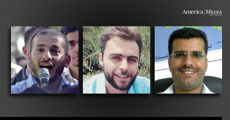 Zahir al-Shurqat, Khaled Eissa and Almigdad Mojalli (left to right), three journalists who were killed reporting stories many Americans chose not to read.