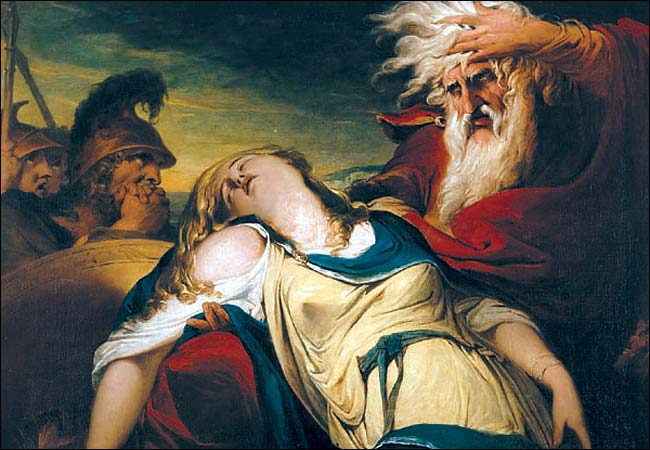 King Lear and Cordelia