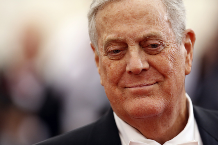 Businessman David Koch arrives at the Metropolitan Museum of Art Costume Institute Gala Benefit on May 5, 2014. Reuters photo by Carlo Allegri.