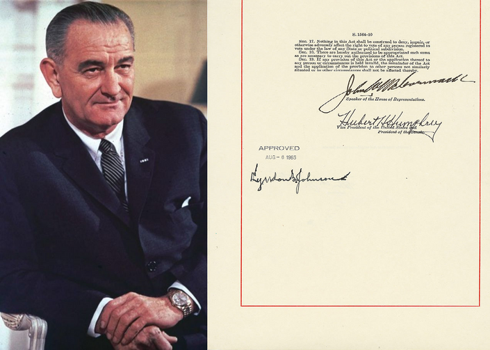 President Lyndon B. Johnson and The Voting Rights Act