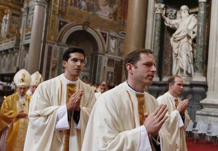 New priests of the Legionaries of Christ at the Basilica of St. John Lateran in Rome