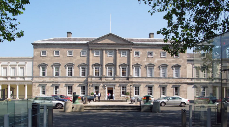 Ireland's Leinster House, Home of the Irish Parliament