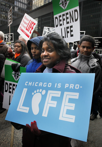 Chicago's Jan. 18 March for Life. (CNS photo/Karen Callaway, Catholic New World)