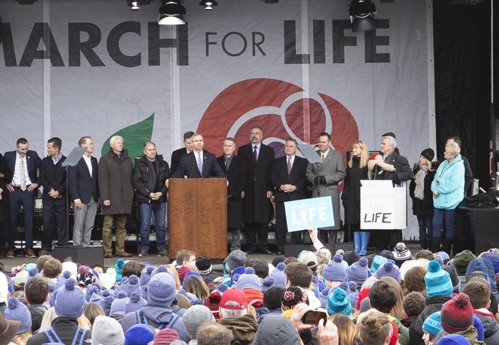 U.S. Rep. Dan Lipinski, D-Ill., speaks during the annual March for Life rally in Washington Jan. 18, 2019. (CNS photo/Tyler Orsburn)