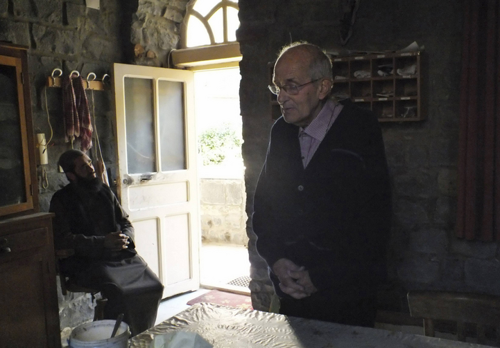 MAN OF PRAYER. Frans van der Lugt, S.J., at the residence of the Jesuit fathers in the besieged area of Homs, Syria, Jan. 29.