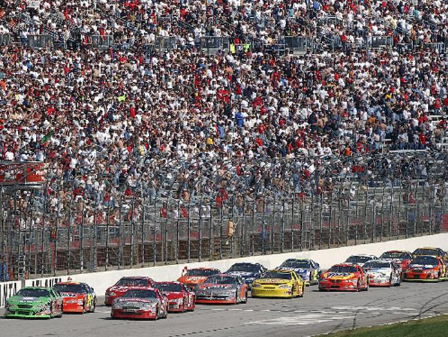 A swelling population and a car-centric culture makes Georgia tilt to the Republican Party. (Photo courtesy of Atlanta Motor Speedway, via the New Georgia Encyclopedia)