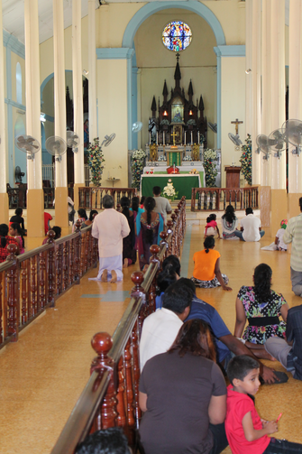 HAIL MARY. Pilgrims at Madhu Church