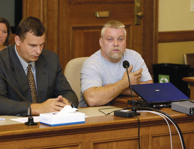 "FLAWED JUSTICE? Steven Avery, right, in ""Making a Murderer"""