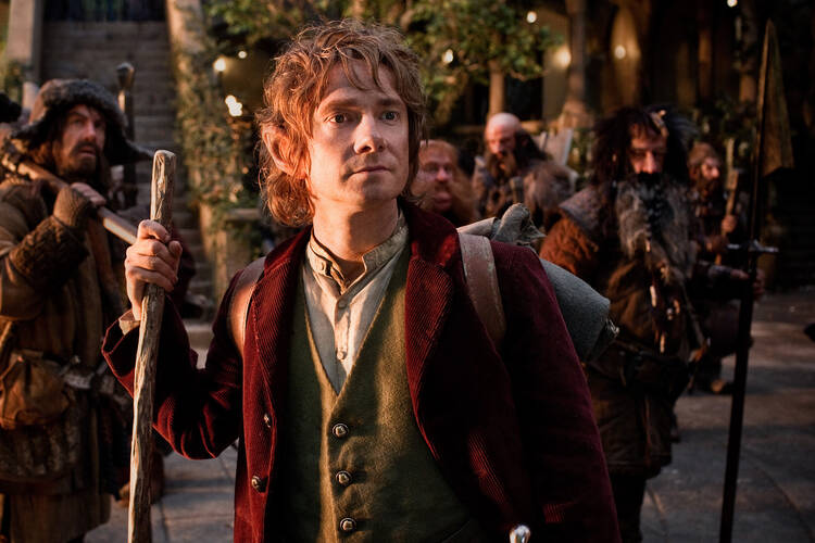 "It's a dangerous business: Martin Freeman continues his journey as Bilbo Baggins in ""The Hobbit: An Unexpected Journey."" (Photo courtesy Grace Hill Media)"
