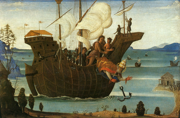 """The Martyrdom of St. Clement,"" Bernardino Fungai (1460-1516) in the painting,"