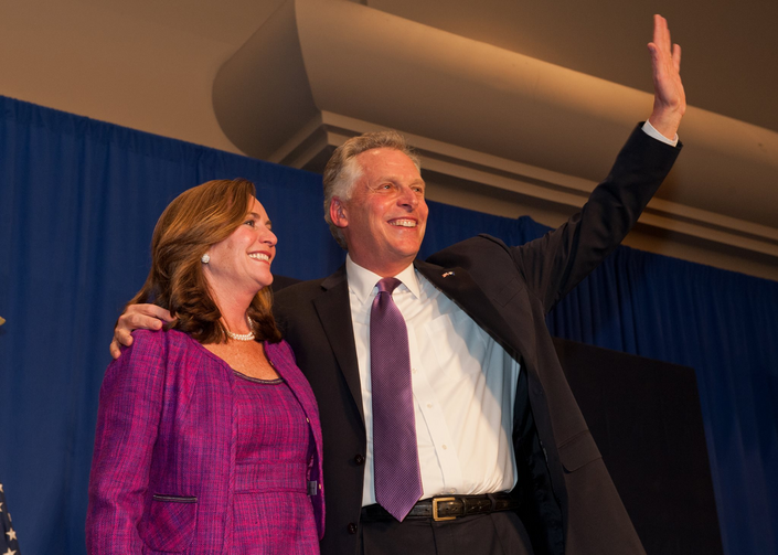 Virginia's new governor, Terry McAuliffe