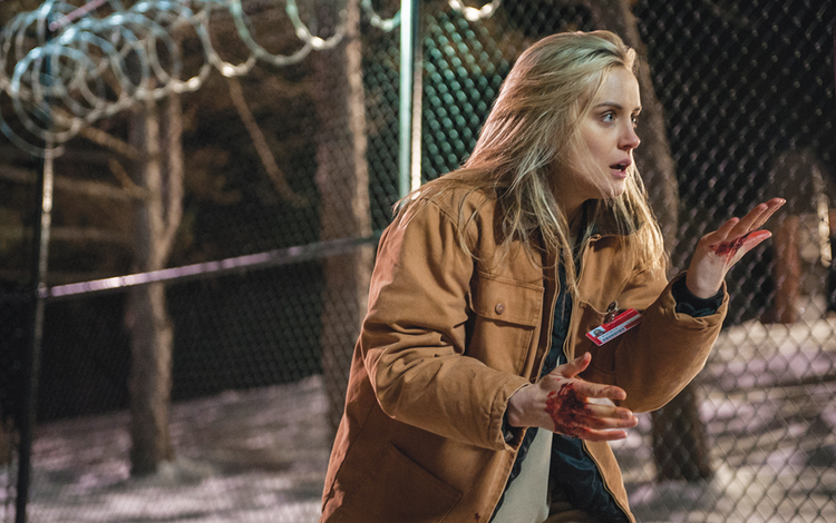 "DOWNTIME: Taylor Schilling in ""Orange Is the New Black"""