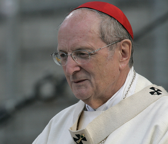 Cardinal Joachim Meisner of Cologne, Germany, is seen in this 2005 file photo. The 83-year-old cardinal died unexpectedly in his sleep July 5 while on vacation in southern Germany. (CNS photo/Bob Roller)