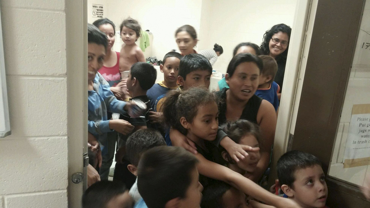 Unaccompanied migrant children at a Department of Health and Human Services facility in south Texas.