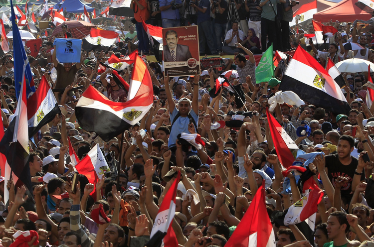 The Short Spring. Supporters of Muslim Brotherhood's presidential candidate Mohammed Morsi celebrate his victory in Tahrir Square in Cairo June 2012. (CNS photo/Ahmed Jadallah, Reuters) (June 25, 2012)