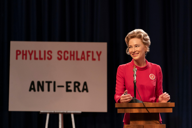 "Cate Blanchett as Phyllis Schlafly in ""Mrs. America"" (photo: Hulu)"