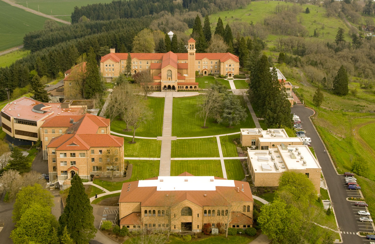Mt. Angel Abbey Library (Photo via Oregon Encyclopedia)