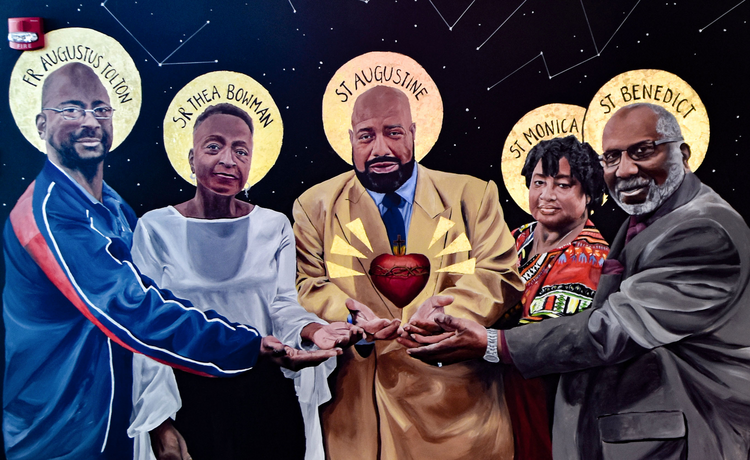 This Catholic high schooler painted a mural of black saints to help fight racism