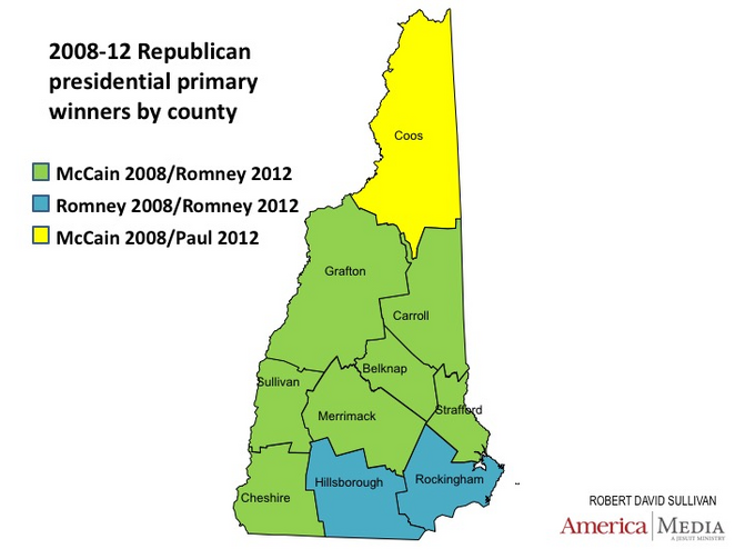 Politically, it's a long way from Londonderry (Rockingham County) up to Berlin (Coos County).