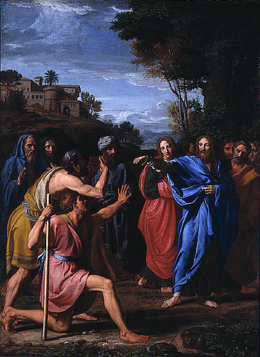 Nicolas Colombel, Christ Healing the Blind (1682). Courtesy of Wikimedia.