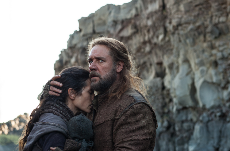 SOMETHING'S COMING. Jennifer Connelly and Russell Crowe in 'Noah'