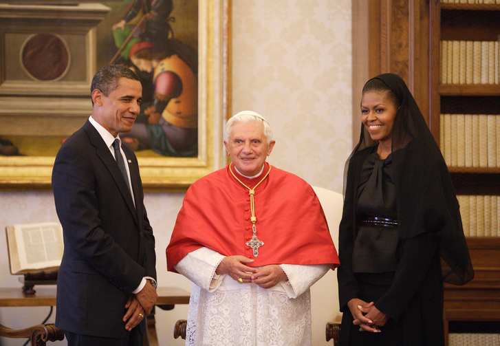 A 2009 Vatican visit with Pope Benedict