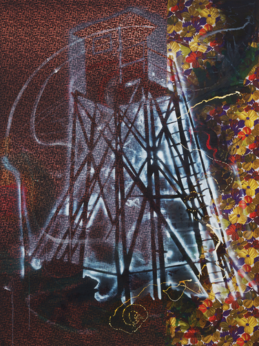 """Watchtower (Hochsitz),"" by Sigmar Polke, 1984"