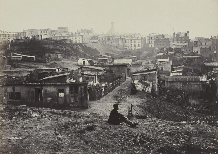 """Top of the Rue de Champlain, View to the Right,"" c. 1877-78"