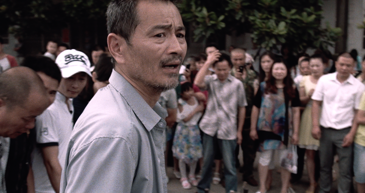 "Chen Gang as taxi driver Lao Shi in ""Old Stone."" Photo provided by Zeitgeist Films"