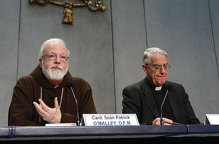 Cardinal Sean P. O'Malley of Boston, with Federico Lombardi, S.J.