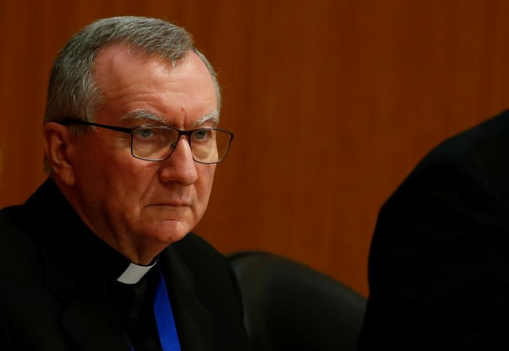"Cardinal Pietro Parolin, Vatican secretary of state, attends the World Congress ""Child Dignity in the Digital World"" at the Pontifical Gregorian University in Rome. (CNS photo/Tony Gentile, Reuters)"