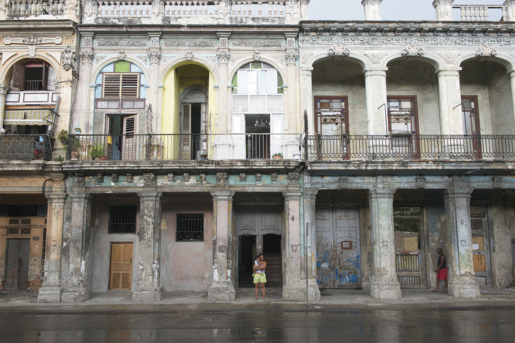 A CITY NEAR REVIVAL OR RUIN. Central Havana, Cuba