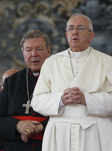 Australian Cardinal George Pell, prefect of the Vatican Secretariat for the Economy, attends Pope Francis' general audience in St. Peter's Square at the Vatican last November.