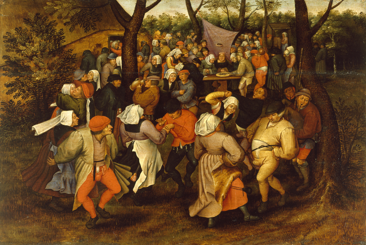 Peasant Wedding Dance by Pieter Bruegel the Younger