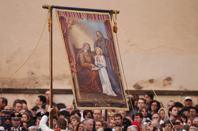 THE GOAL. Pope Francis celebrates Mass on the feast of Corpus Christi at the Basilica of St. John Lateran in Rome.