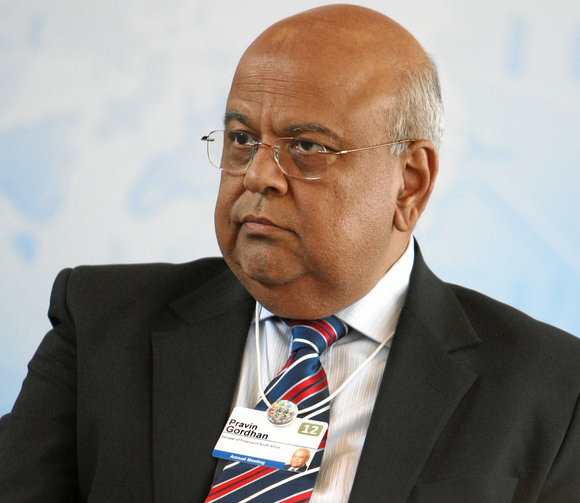 Pravin Gordhan at the World Economic Forum in 2012