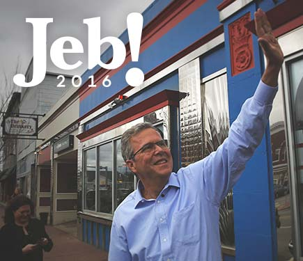 Jeb Bush has to convince Republican primary voters he'd gladly take responsibility for the chaos that the guy appointed by his brother refused to allow. (Image from @JebBush Twitter account)