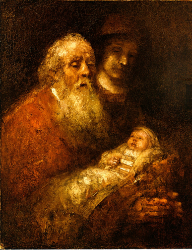 Simeon's Song of Praise by Rembrandt (1669)
