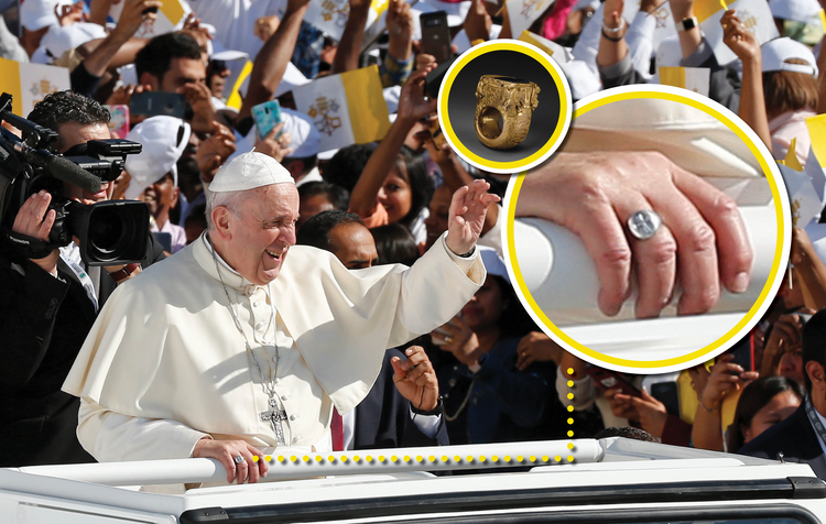 Image result for pope francis kissing papal ring