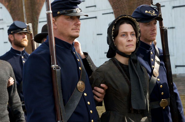 "Robin Wright as Mary Surratt in the movie ""The Conspirator"" (CNS photo/Roadside Attractions)."