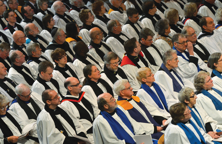 CLERGY PERSONS. The enthronement ceremony for the new archbishop of Canterbury, Justin Welby, March 21, 2013.